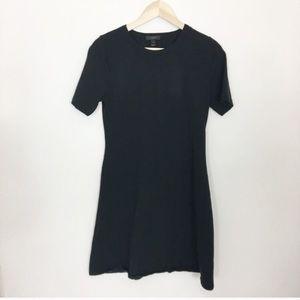 J. Crew sunset shirt sleeve knit dress in black
